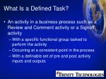 what is a defined task