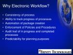 why electronic workflow