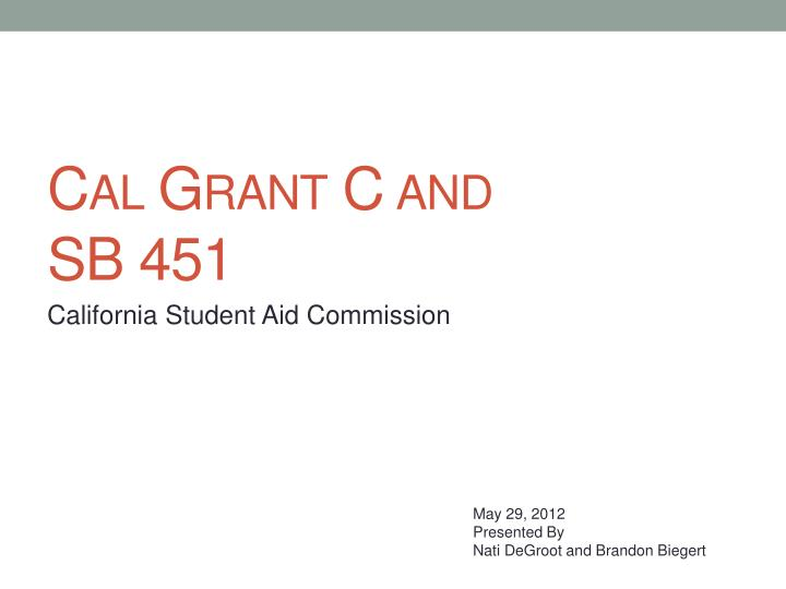 california student aid commission n.