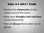 take a gallery walk