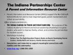 the indiana partnerships center a parent and information resource center