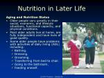 nutrition in later life1