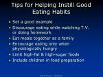 tips for helping instill good eating habits