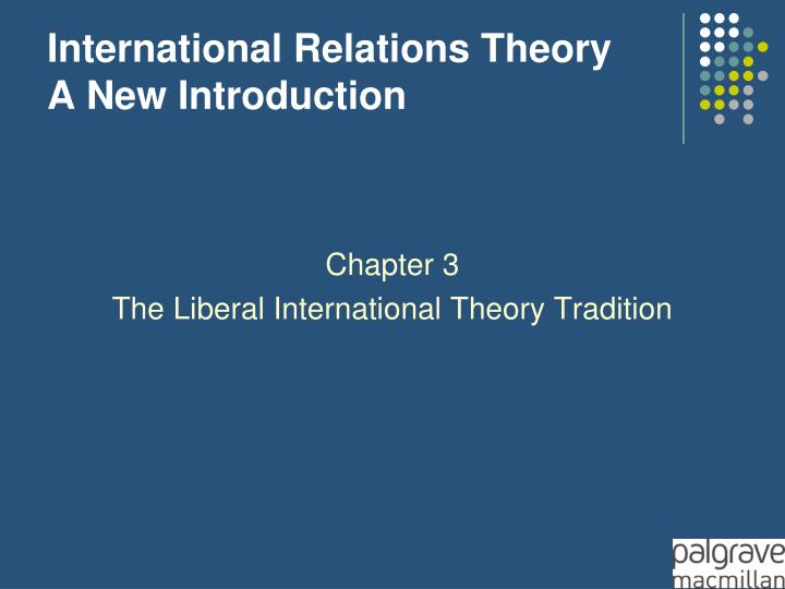 international relations theory a new introduction n.