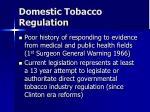 domestic tobacco regulation