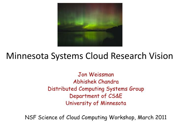 minnesota systems cloud research vision n.