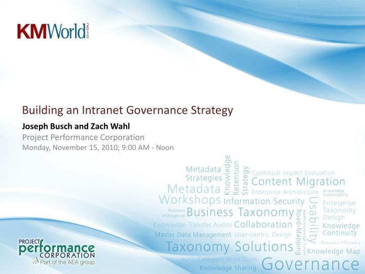building an intranet governance strategy n.