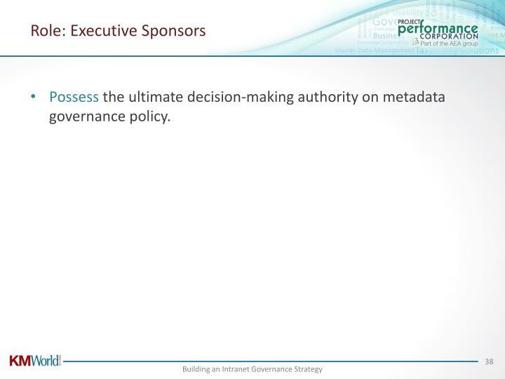 Role: Executive Sponsors