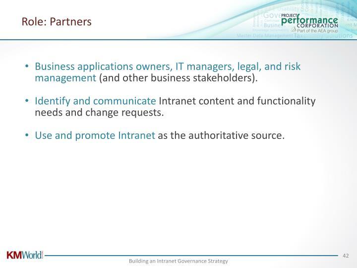 Role: Partners
