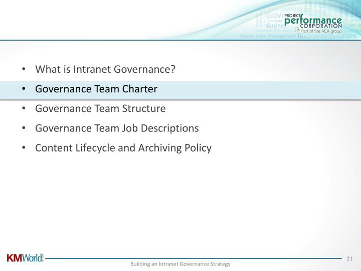 What is Intranet Governance?