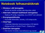 notebook felhaszn l knak