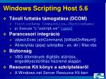 windows scripting host 5 6