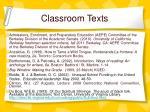 classroom texts