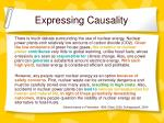 expressing causality1