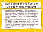 some assignments from the college writing programs1