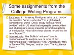 some assignments from the college writing programs2