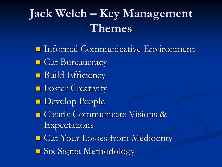 jack welch key management themes n.