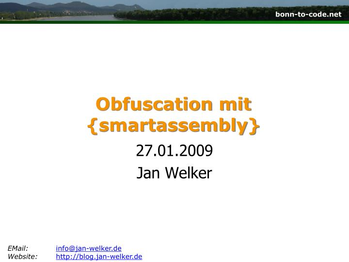 obfuscation mit smartassembly n.