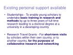 existing personal support available