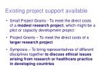 existing project support available