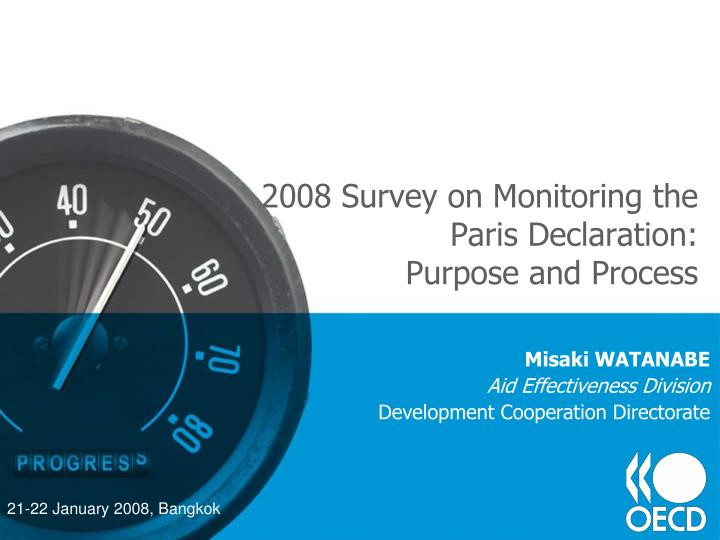 2008 survey on monitoring the paris declaration purpose and process n.