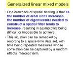 generalized linear mixed models