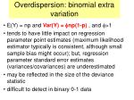 overdispersion binomial extra variation