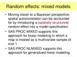 random effects mixed models