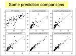 some prediction comparisons1