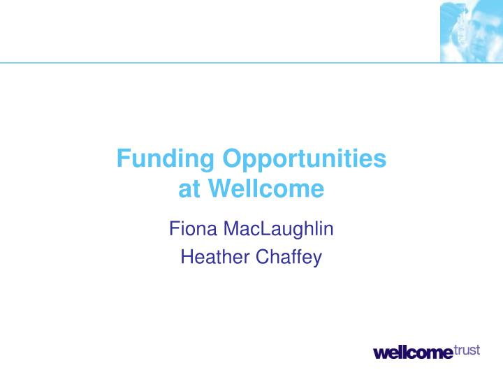 funding opportunities at wellcome n.