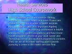 health services high school coursework