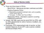units of service limits1