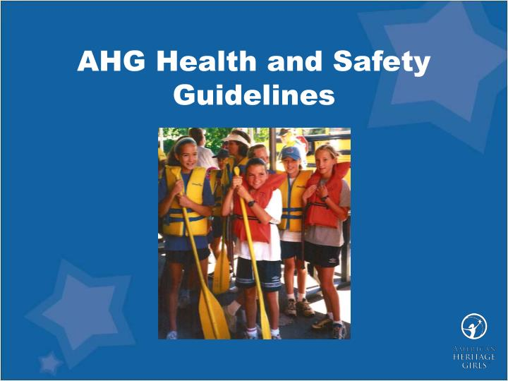 ahg health and safety guidelines n.