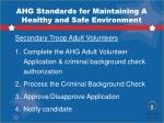 ahg standards for maintaining a healthy and safe environment2