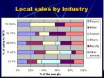 local sales by industry