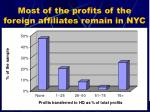 most of the profits of the foreign affiliates remain in nyc