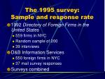 the 1995 survey sample and response rate
