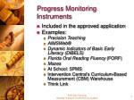 progress monitoring instruments