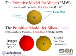 the primitive model for water pmw