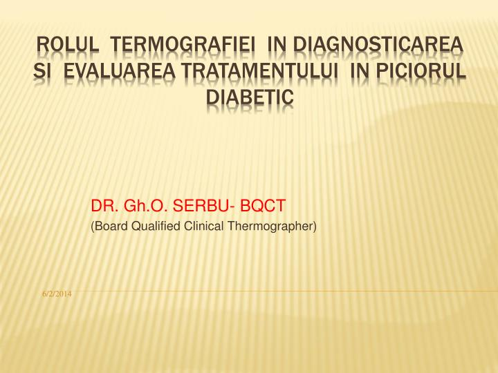 dr gh o serbu bqct board qualified clinical thermographer n.