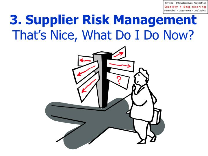 3. Supplier Risk Management