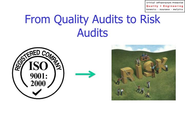 From Quality Audits to Risk Audits