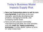 today s business model impacts supply risk