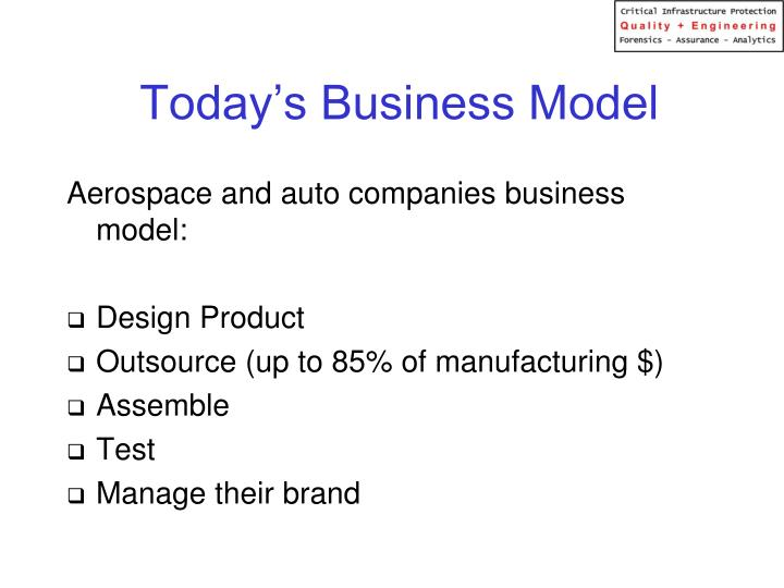 Today's Business Model