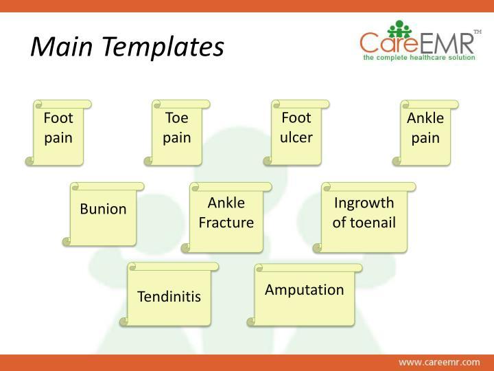 Main templates