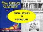 social issues in literature