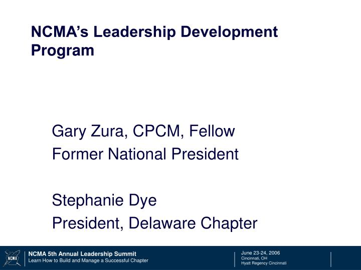 ncma s leadership development program n.
