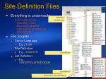 site definition files