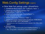 web config settings cont
