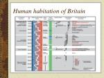 human habitation of britain